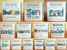 Male birthday cards Special-Son in Law Dad & Grandad Nephew Cousin Daddy Brother
