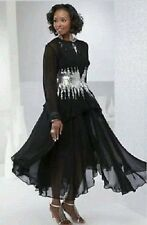 Formal Wedding Mother of the bride Carrie Jacket dress Green Gold Black Silver