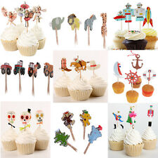 Set of 24pcs Novelty Cupcake Food Picks Cake Topper Baby Shower Party Decor