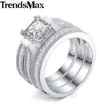 11mm Womens Girls 925 Sterling Silver Wedding Engagement US Sz 6-9 Band Ring