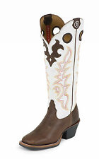 Tony Lama Womens Beige Mustang Leather 3R 16in Western Boots