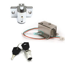 Aluminum Catch Push Lock S1203 Electric Solenoid Lock DC 12V 0.6A/350mA Assembly