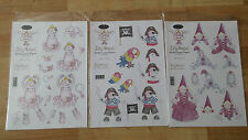 A4 3D Decoupage Papers Pirate Princess Ballet Jolly Nation Card Children Crafts