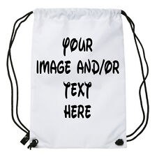Personalised Gym Swimming Shoe Drawstring bag. Add Any Image/Name or Text