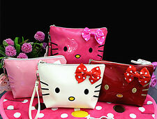 New Hellokitty Cosmetic Handbag make up Bag Clutch Storage Case aa-228
