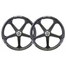 """OLD SCHOOL BMX 20"""" ACS Z-MAG 5 SPOKE WHEELS FRONT AND REAR (BLACK) BY ACS"""