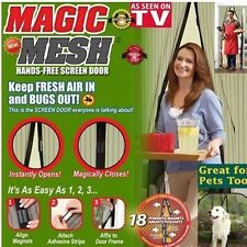 NEW Magic Mesh Hands-Free Screen Net Magnetic Anti Mosquito Bug Door Curtain CS