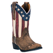 Dan Post Cowboy Certified Kids Red Lil Liberty Boots Leather