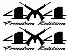 4X4 Freedom Edition AR15 2nd Amendment Right to Bear Arms Supporter Vinyl Decals