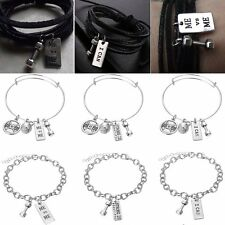 Men Dumbbell Weight Gym Fitness Weightlifting Crossfit Bracelet Bangle Jewellery