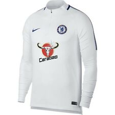 Nike Chelsea FC Official 2017 - 2018 MidLayer Soccer LS Training Top White