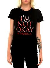 Official My Chemical Romance I'm Not Okay Emo Band Ladies Fitted Tee Size 8