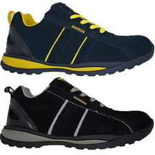 MENS WOMENS STEEL TOE CAP LIGHT-WEIGHT TRAINERS SAFETY LACE UP WORK SHOES BOOTS