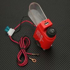 Red Motorcycle Cigarette Lighter USB Charger Power for Ipad Cell Phone Tablet PC