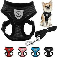 Dog Harness Leash Set Chihuahua Adjustable Dogs Cat Soft Breathable Mesh Vest