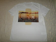 CALVIN KLEIN T-SHIRT MENS SIZE 2XL SHORT SLEEVES WHITE COLOR NEW WITH TAGS