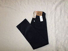 LEVI'S CORDUROYS 514 STRAIGHT FIT PANTS MENS SIZE 29X30 ZIP FLY DARK BLUE NWT
