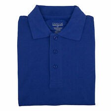 Adult Unisex Royal Blue Pique Polo Shirt Tanvir School Uniform Short Sleeve S-XL