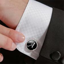Vintage Stainless Steel Alphabet Mens Wedding Gift Shirt Cufflinks Cuff Links
