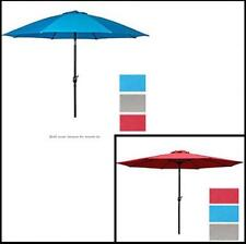 9' Outdoor Patio Aluminum Beach Umbrella Crank Tilt Sun Shade UV Block Garden