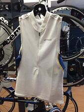 ORCA 226 TRI POCKET SINGLET - MEN, WHITE, ALL SIZES AVAILABLE, NEW! Reg $110