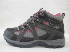 Ladies Karrimor Mount Mid Walking Hiking Grey Pink Weathertite Lace Up Boots