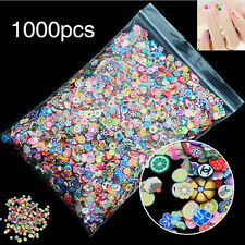 1000* Nail Art Mix Design Fimo Slices Polymer Clay Stickers Decoration Manicures