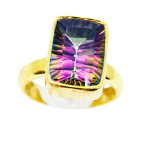 Mystic Quartz Copper Ring L-1in dainty Multi jaipur AU K,M,O,Q