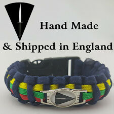 Royal Artillery 29 Commando Badged Survival Bracelet Tactical Edge.