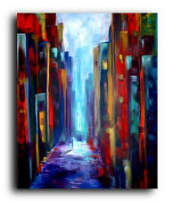 Canvas and Fine Art Prints Cityscape Contemporary Painting Modern Pop Abstract