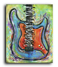 Lg. Canvas and Fine Art Prints Stratocaster Guitar Instrument Abstract Modern