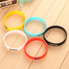 Cute Pokemon Go Wristband Silicone Bracelet Gifts Popular Women Jewelry