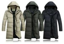 Mens Winter Warm Jacket Zipper Duck Down Hooded Puffer Knee Long Coat Parka New