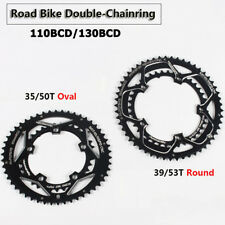 Road Bike Double Chainring 110 130BCD Chain Ring 8/9/10/11S for SHIMANO FSA SRAM