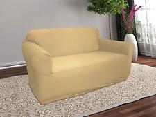 TAN LINEN JERSEY CHAIR STRETCH SLIPCOVER, COUCH COVER, FURNITURE CHAIR COVER