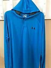 Under Armour Mens UA Tech Popover Blue Hoodie Shirt NWT Large 1274511