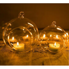 Snazzy Clear Hanging Glass Candle Holder Votive Candlestick Wedding Party Decor