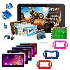 "7"" A33 Android 4.4 Quad Core Dual Camera 8GB Tablet PC WiFi bundle Rubber Case"