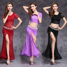 Lace Bellydance Costume New Model Hot Sale Women Belly Dance Suits Top&skirt