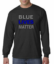 New Way 738 - Long-Sleeve T-Shirt Blue Lives Matter Law Enforcement Police Cops