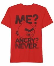 Angry Birds Never Angry Tee T-Shirt Video Game Movie Player Short Sleeve Red