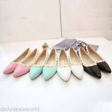 NEW FASHION WOMENS CUTE CASUAL COMFORT TOE SLIP ON BALLET FLAT SHOES 35-40
