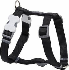 Red Dingo Plain BLACK Harness for Dog or Puppy | Sizes XS - LG | FREE P&P