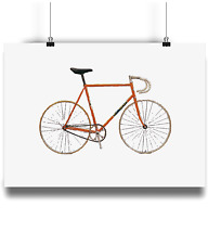Eddy Merckx Colnago one hour record bike   bicycle prints illustration  cycling