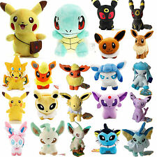Pokemon Collectible Plush Toy Eevee Pikachu Squirtle Stuffed Cuddly Doll Gift
