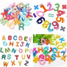 Colorful Cartoon Design Wooden Letters Numbers Fridge Magnets Teaching Kids Toys