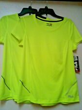 Womens Tru Dry Shirt Top Exercise Athletic/Run Fila Sport Neon Yellow S, M