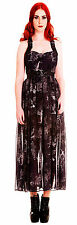 BLACK HELL BUNNY spin doctor STEAMPUNK GOTH DRESS XS 8 10 emo vamp gothic