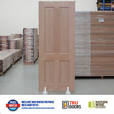 Traditional French Solid Timber Doors Hardwood 4 Panel Colonial Sliding / Hinged