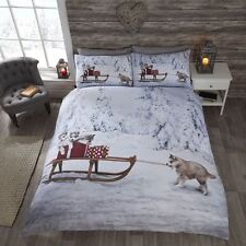 Christmas Cute Huskies Duvet Cover and Pillow Case Set